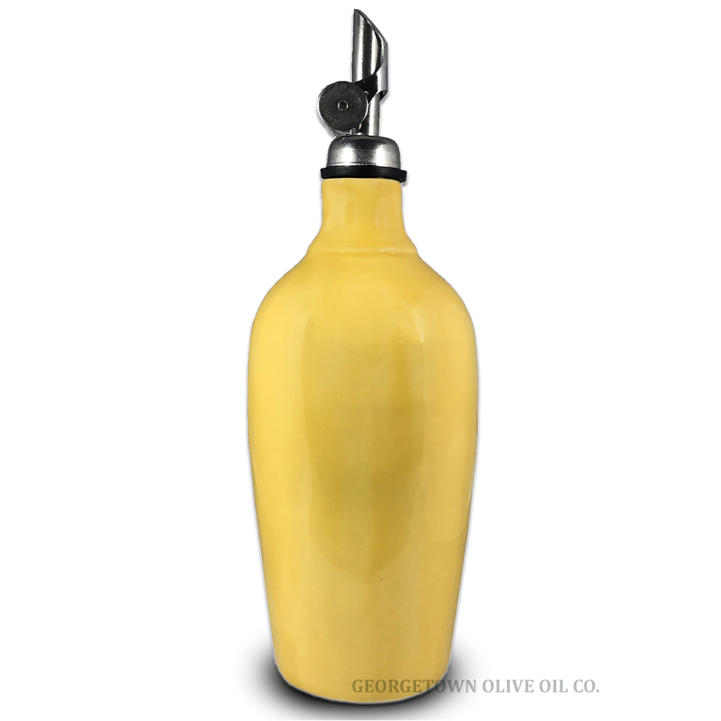 Handmade Olive Oil Cruet - Yellow - Georgetown Olive Oil Co.