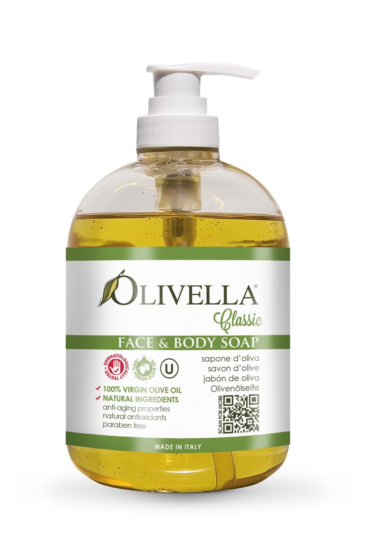 Face and Body Liquid Soap - Classic Georgetown Olive Oil Co.