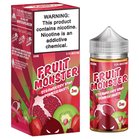 FRUIT MONSTER STRAWBERRY KIWI POMEGRANATE BY JAM MONSTER 100ML
