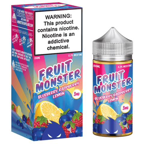 FRUIT MONSTER BLUEBERRY RASPBERRY LEMON BY JAM MONSTER 100ML