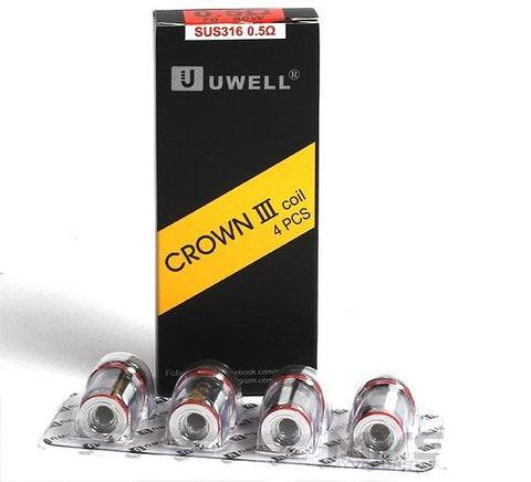 Uwell Crown 3 Replacement Coils SUS316 .5ohm - 4 Pack