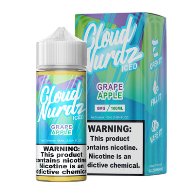 GRAPE APPLE ICED BY CLOUD NURDZ 100ML Swagg Sauce