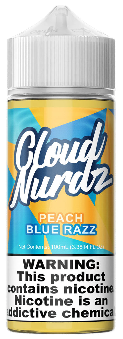 PEACH BLUE RAZZ BY CLOUD NURDZ 100ML Ejuice Cloud Nurdz 0MG