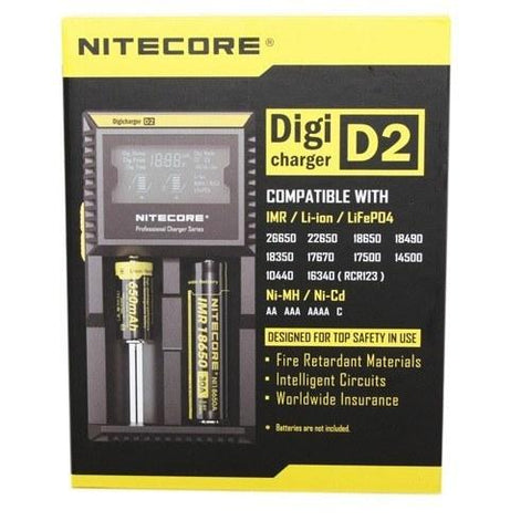 Nitecore Digi Charger D2 Digital Charger (Dual Charger) - Swagg Sauce Vape Juice - 1
