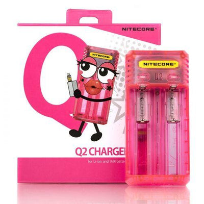 NITECORE Q2 2A QUICK UNIVERSAL BATTERY CHARGER (2-BAY) Swagg Sauce Pink