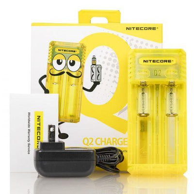 NITECORE Q2 2A QUICK UNIVERSAL BATTERY CHARGER (2-BAY) Swagg Sauce Yellow