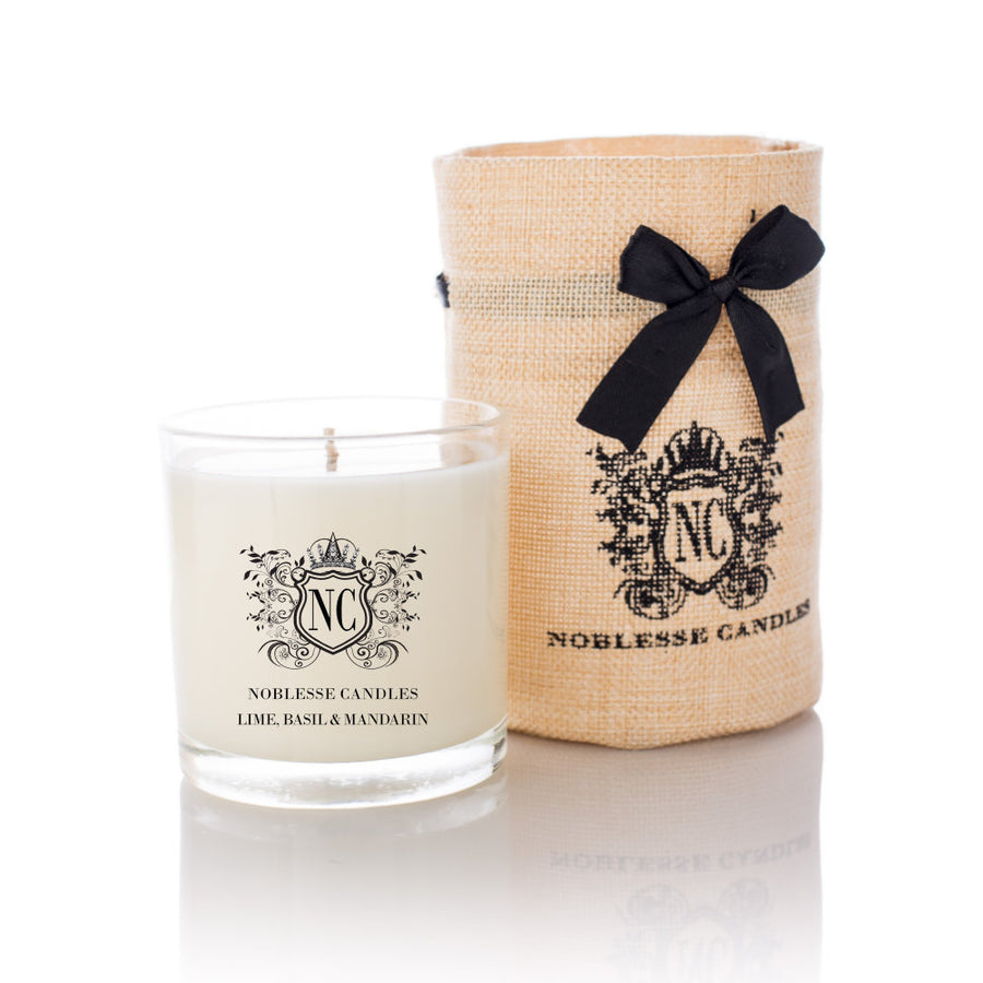 Lime, Basil & Mandarin Scented Candle, Standard Size, Noblesse Candles
