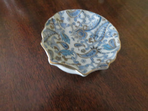 Blue Paisley Nut Dish by Lefton Nut Dish- Carolina China Collectibles