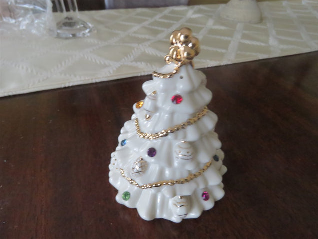 2001 Lenox Jewels Of Christmas Salt & Pepper Set Christmas Trees