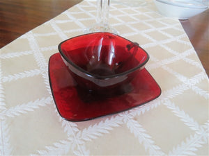 Ruby Red Cup and Saucer