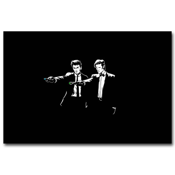 12x18 Doctor Who - Reservoir Dogs Style Silk Poster Art