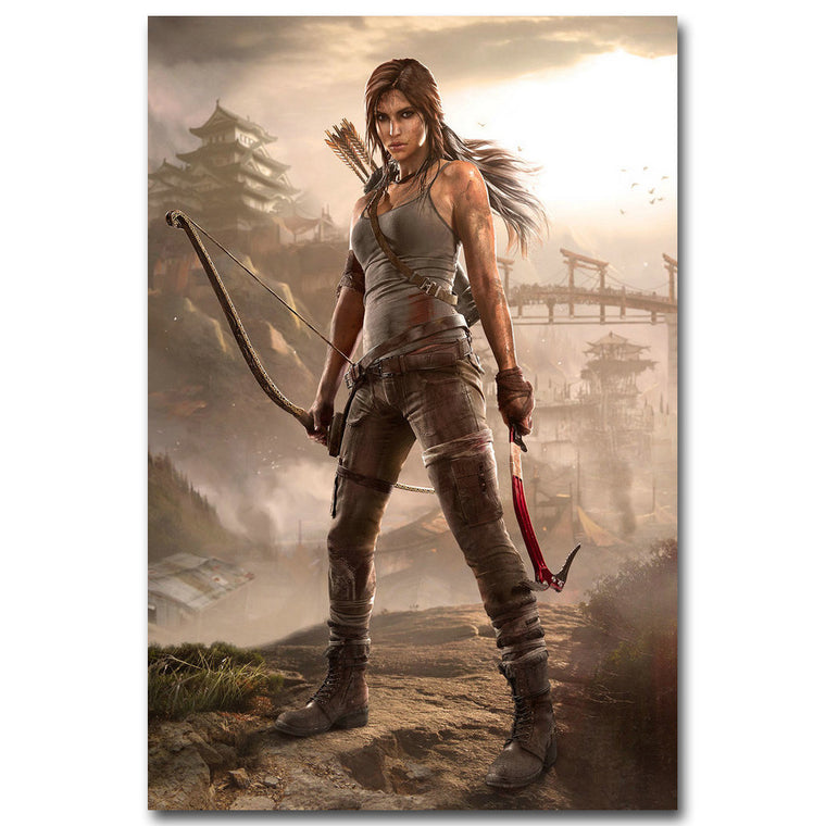 12x18 Tomb Raider - Lara Croft Silk Poster Art