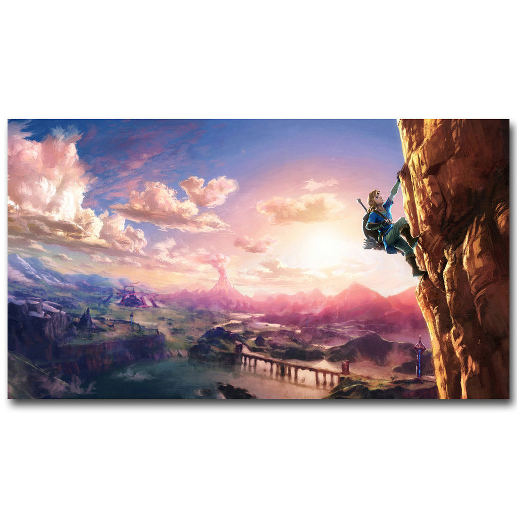 12x21 / No Logo The Legend Of Zelda Breath of the Wind Silk Poster Art