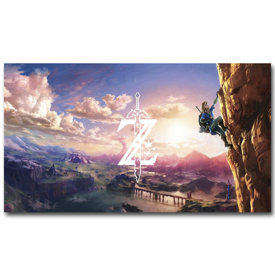 12x21 / With Logo The Legend Of Zelda Breath of the Wind Silk Poster Art
