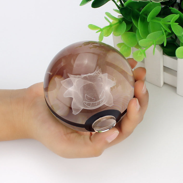 3D Crystal Ball Pokemon Light Toy