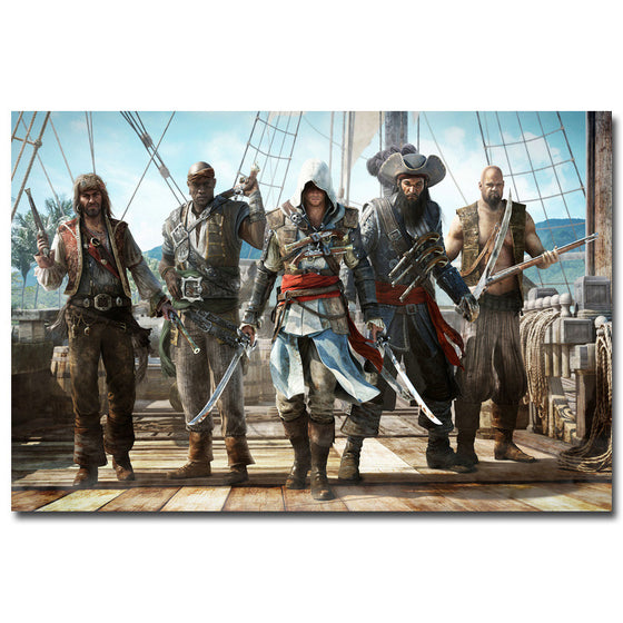 Assassins Creed Black Flag Silk Poster Art