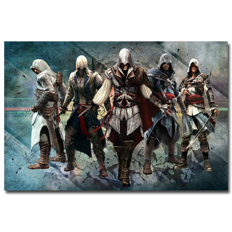 Assassins Creed - Heroes Silk Poster Art