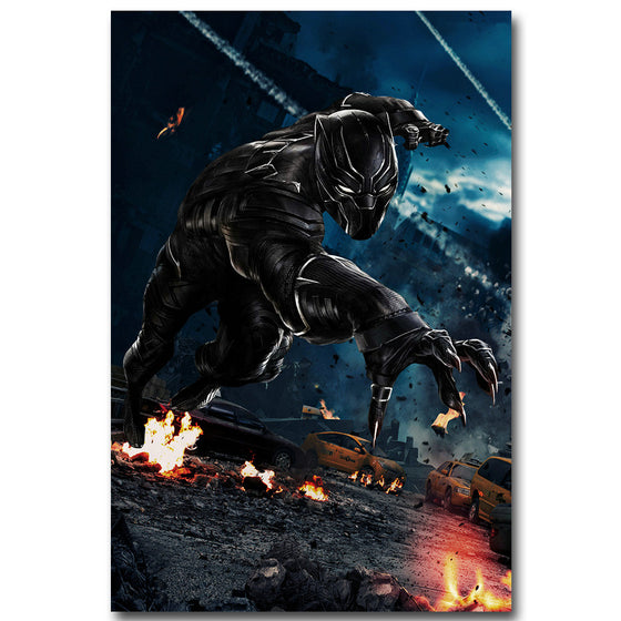 Black Panther - Promotional Art Silk Poster Art