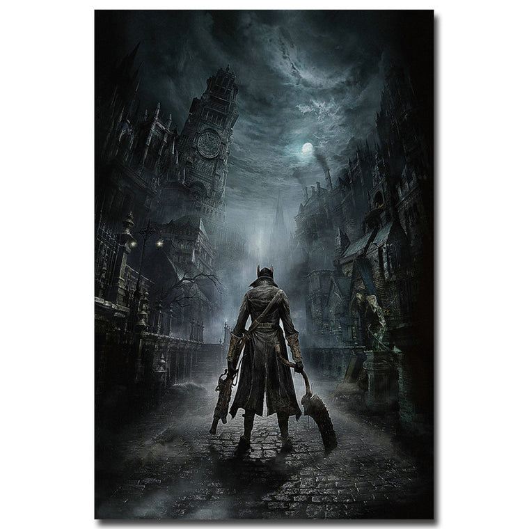 Bloodborne Silk Poster Art