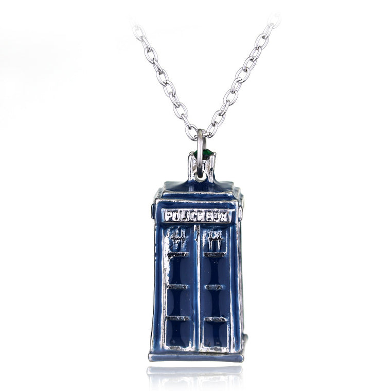 Blue/Silver Doctor Who Tardis Pendant Jewelry