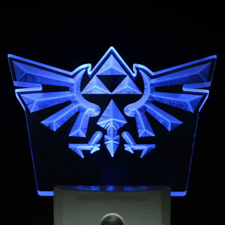 Blue Triforce LED Light Toy