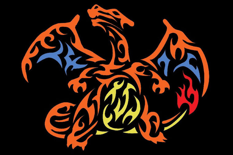 Charizard Silk Fabric Poster Art