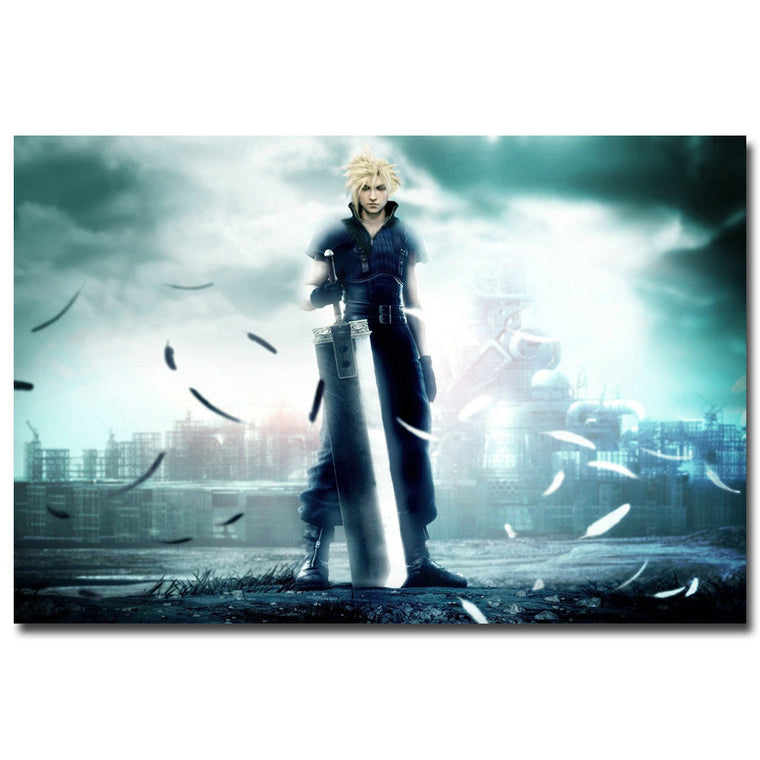 Cloud - Final Fantasy VII Silk Poster Art