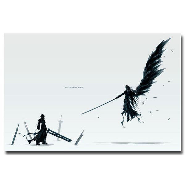 Cloud VS Sephiroth - Final Fantasy VII Silk Poster