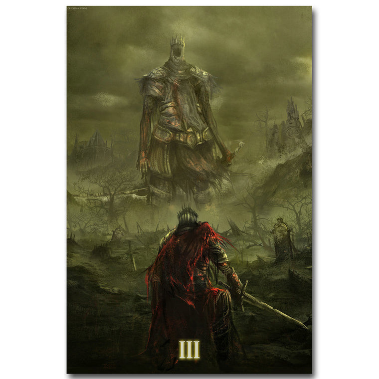Dark Souls 3 Art Silk Fabric Poster Art