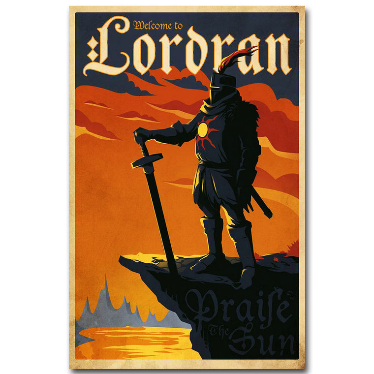 Dark Souls 3 - Welcome to Lordran Silk Poster Art