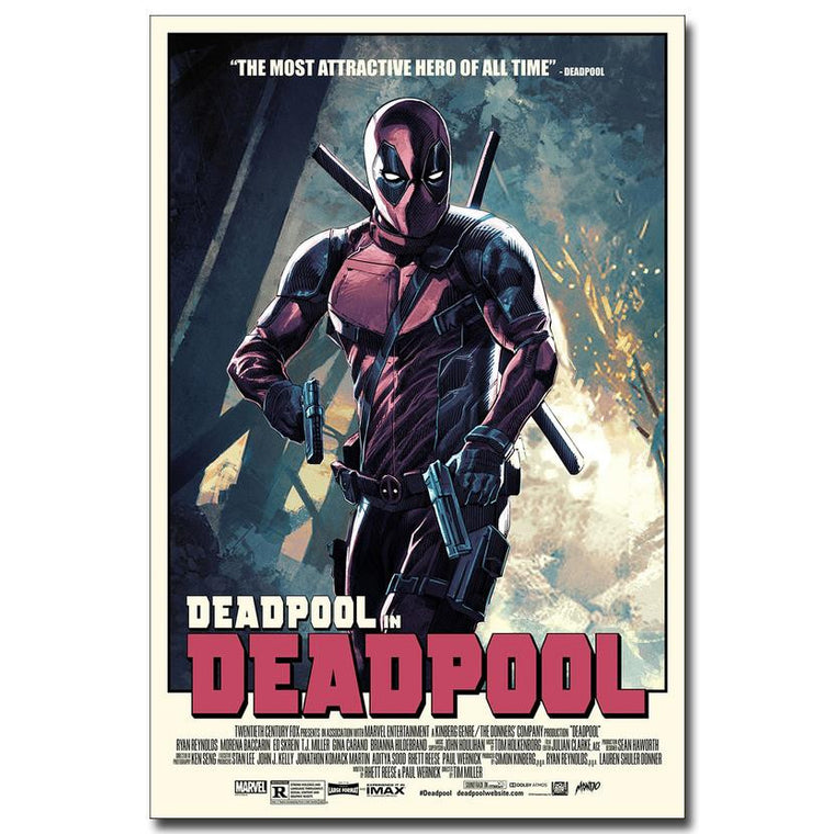 Deadpool - Retro Style Movie Poster Art