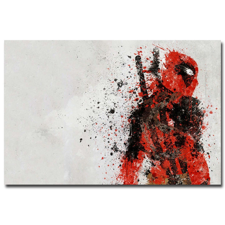 Deadpool - Splatter Style Silk Poster Art