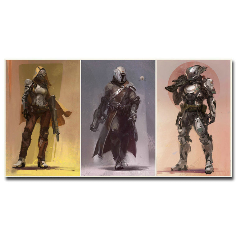 Destiny - 3 Panel Characters Silk Poster Art