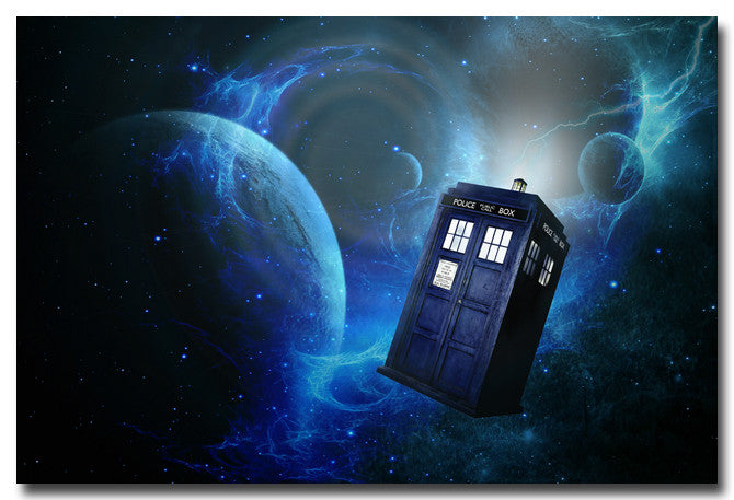 Doctor Who 9 TV Series Art Silk Poster Print 12x18 20x30 24x36 inches Pictures For Living Room Decor Space Police Box 022 Art