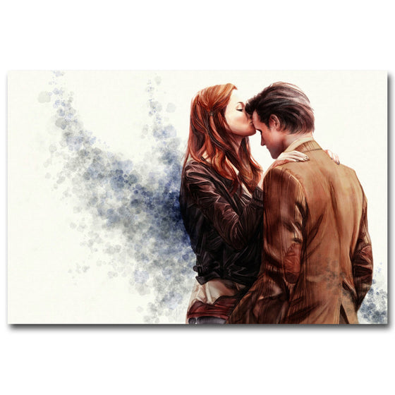 Doctor Who - Amy Pond and the Doctor Silk Poster Art