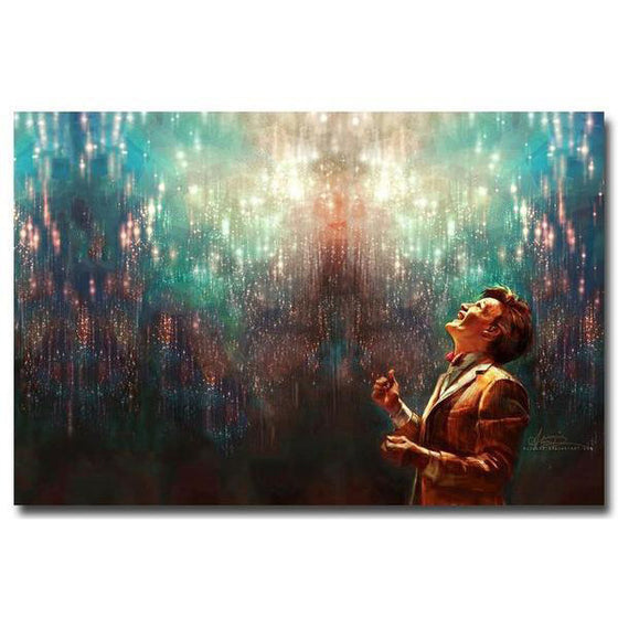 Doctor Who - Lost in Wonder Silk Fabric Poster