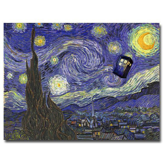 Doctor Who - Starry Night Silk Poster