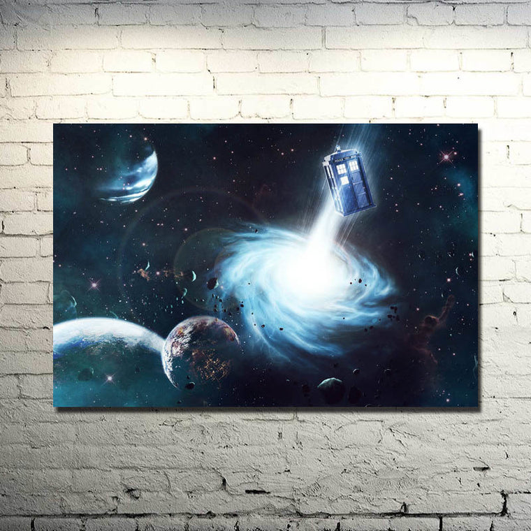 Doctor Who - Tardis and Galaxy Silk Poster Art