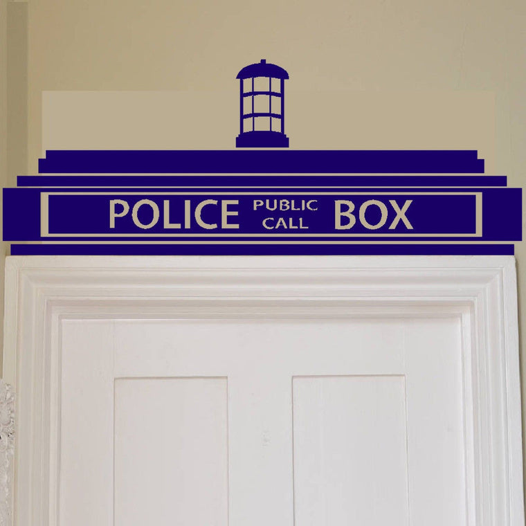 Doctor Who - Tardis Door Topper Vinyl Wall Sticker Sticker