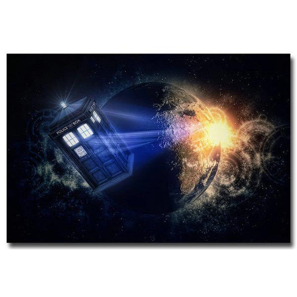 Doctor Who - Tardis in Motion Silk Poster
