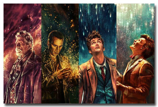 Doctor Who - The Doctors 4 Panel Silk Poster Art