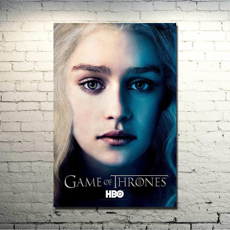 Game of Thrones - Daenerys Targaryen and Logo Silk Poster Art