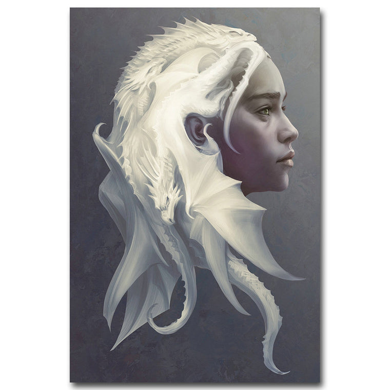 Game of Thrones - Daenerys Targaryen Silk Poster Art