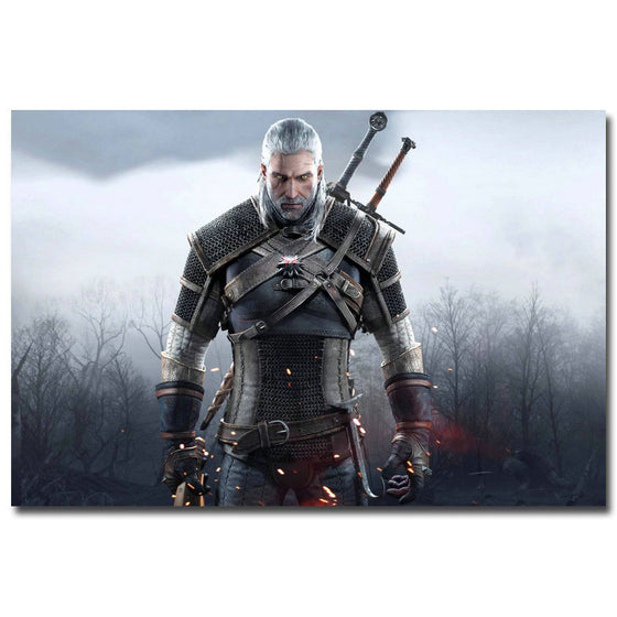 Geralt - The Witcher 3 Wild Hunt Silk Poster Art