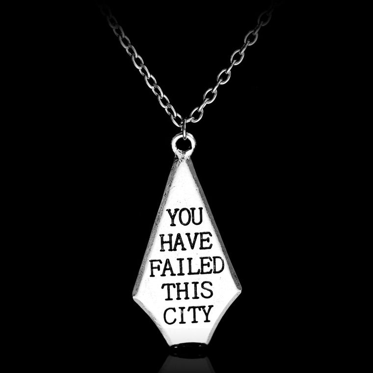Green Arrow - You Have Failed This City Pendant Jewelry