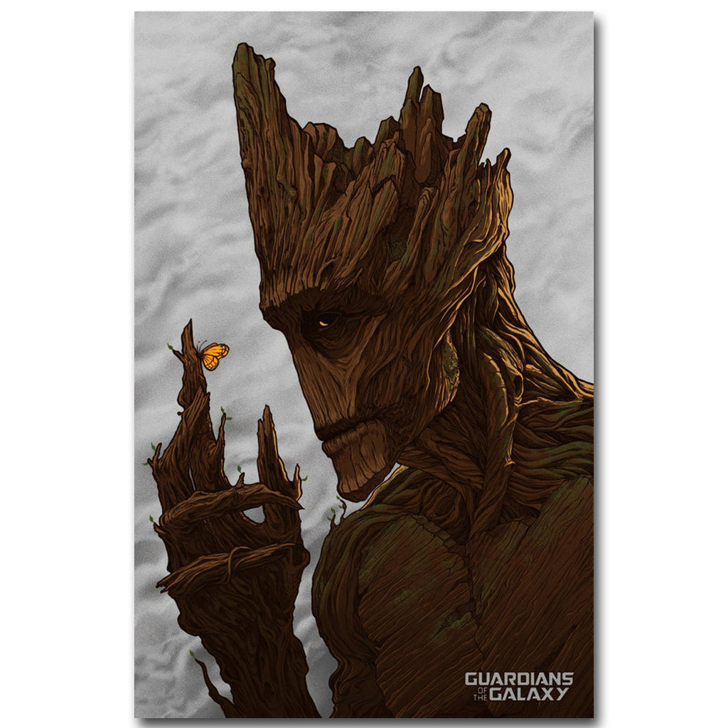 Groot - Guardians of The Galaxy Silk Poster Art