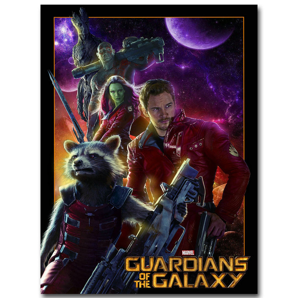 Guardians of The Galaxy - Crew and Logo Silk Poster Art
