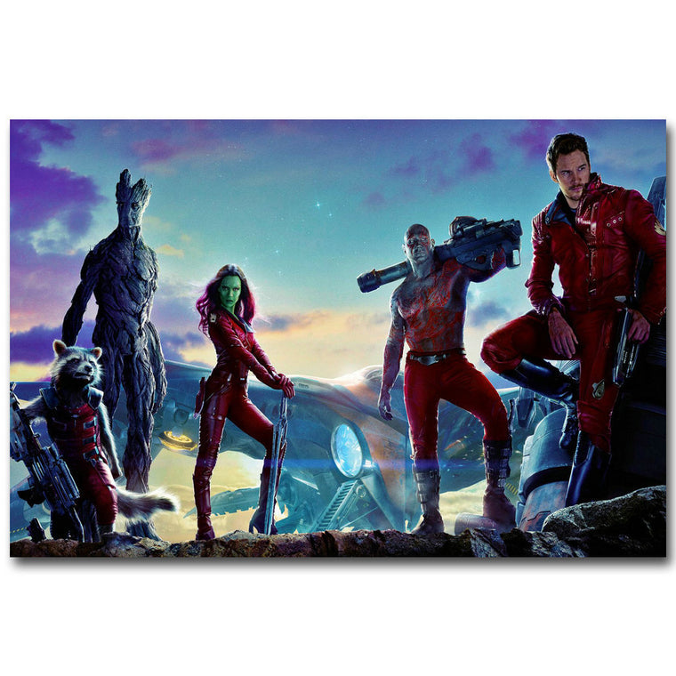 Guardians of The Galaxy - Crew Shot Silk Poster Art
