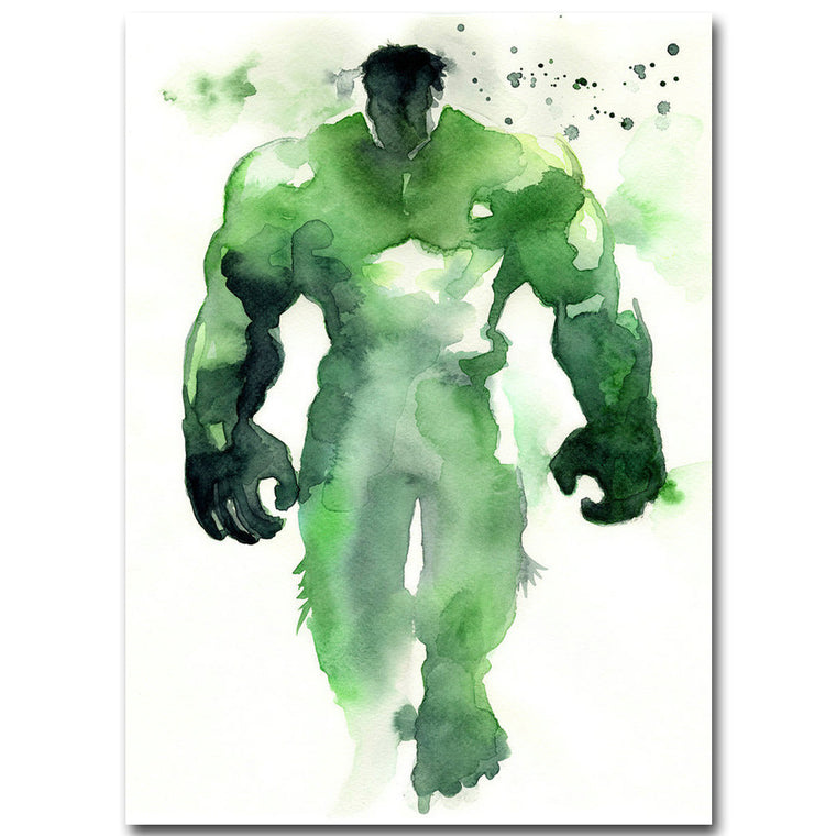 Hulk - Watercolor Minimalist Silk Poster Art