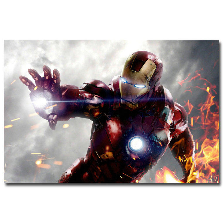 Iron Man - Fire Silk Poster Art